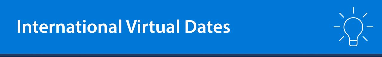 international virtual dates