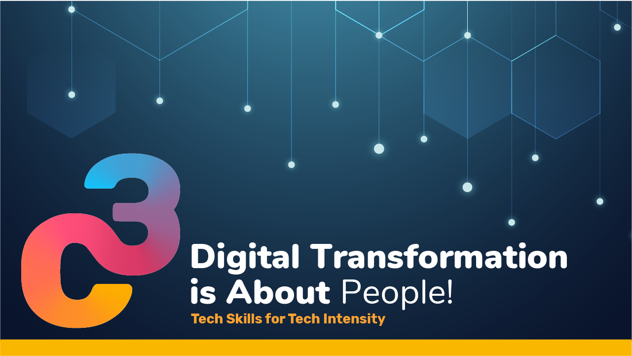 digital transformation is about people banner