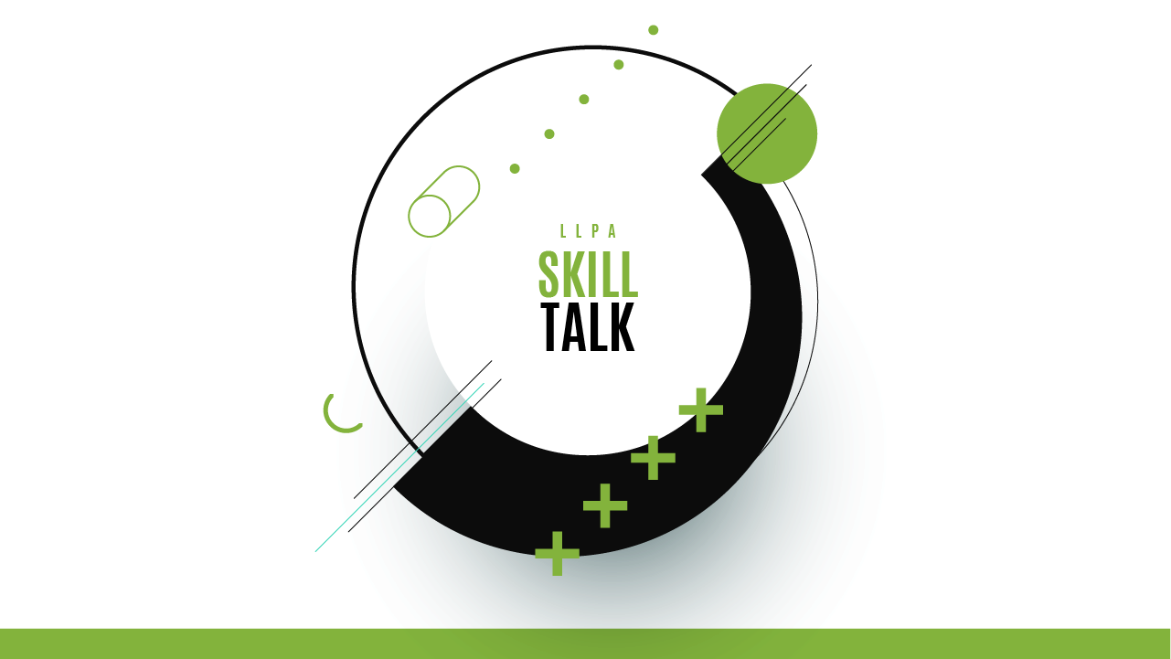 the llpa skills talk banner