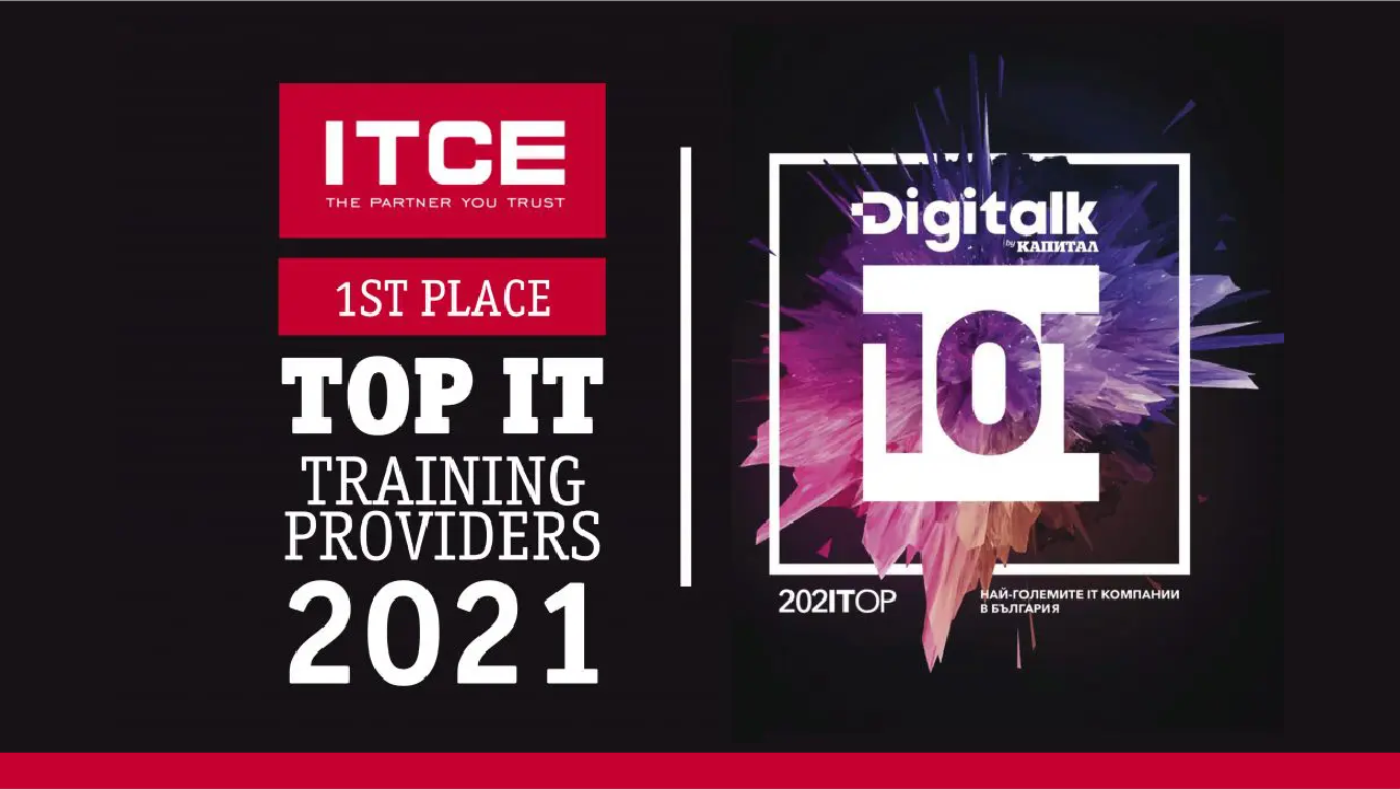 itce top it training provider banner with digitalk logo